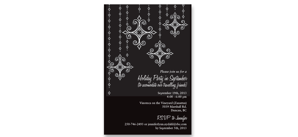 Graphic Design Services for Printed Invitations