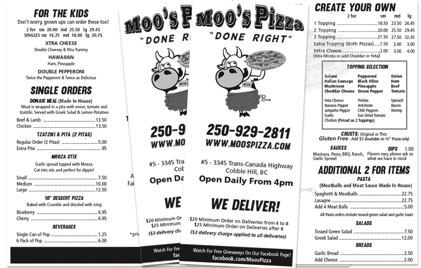graphic designers for menus cowichan