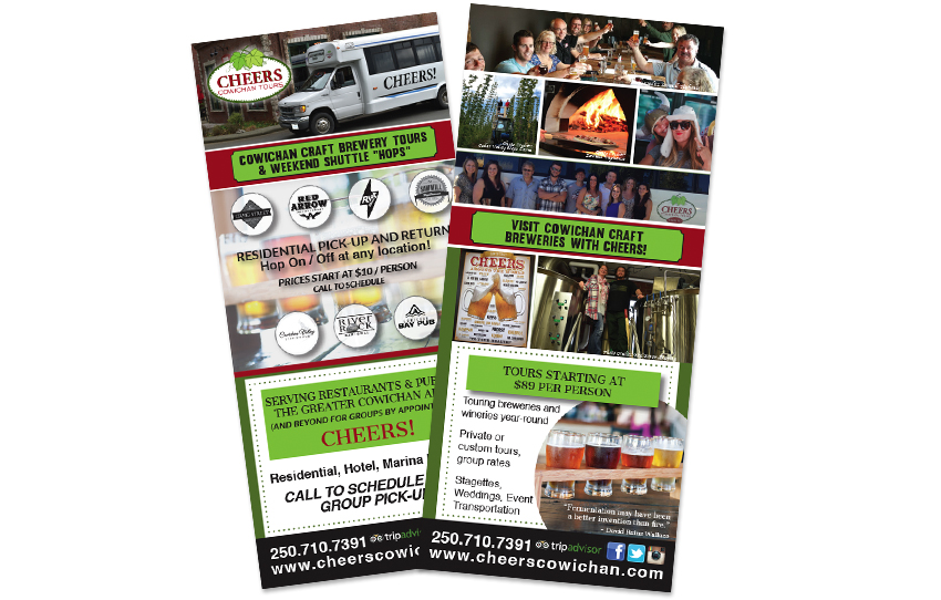 graphic designers for rack cards cowichan
