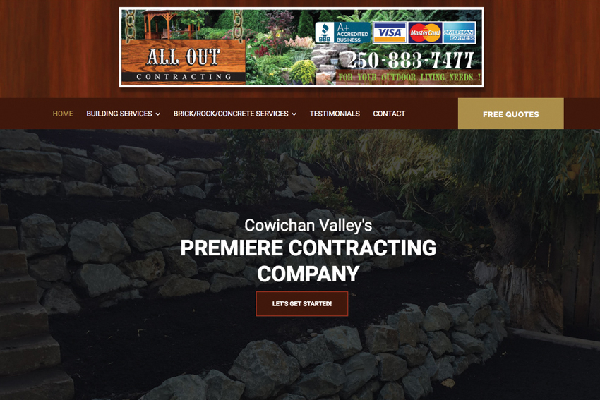 Contracting Company Web Site Designer Vancouver Island