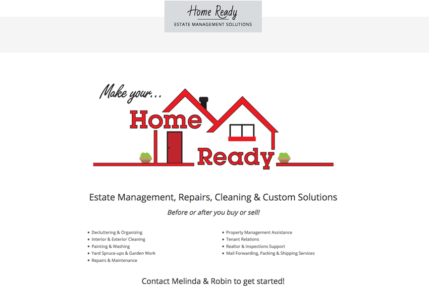 Home Cleaning Services Website Designer Vancouver Island