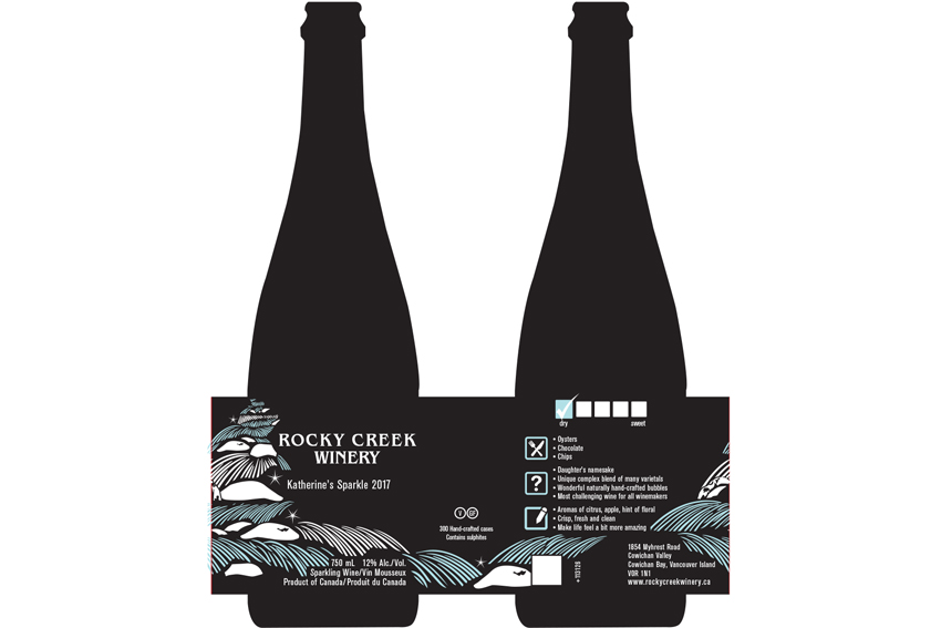 Custom Graphic Design Vancouver Island Wrap Around Wine Labels