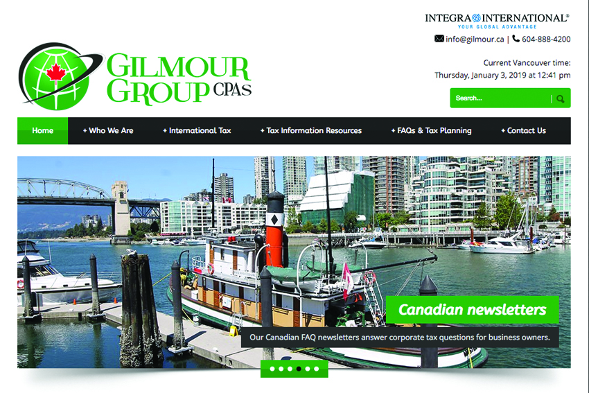 Accounting Firm Website Design Vancouver Island