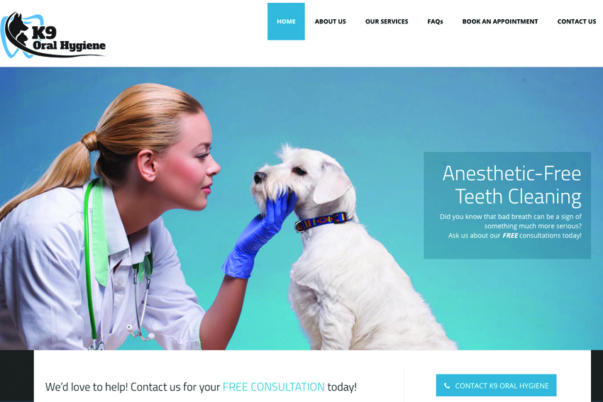 Animal Care Website Design Vancouver Island