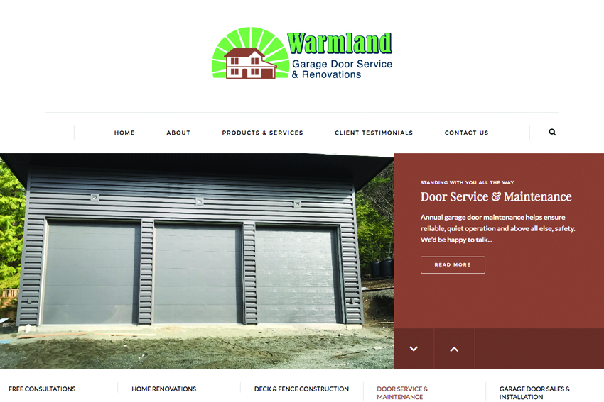 Building Contractors Website Design Vancouver Island