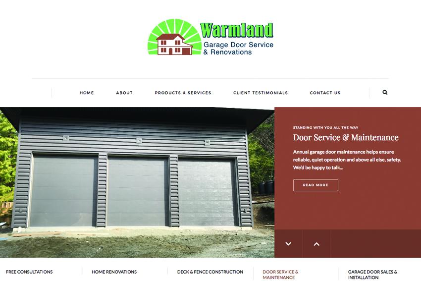 Building Contractors Website Design Vancouver Island