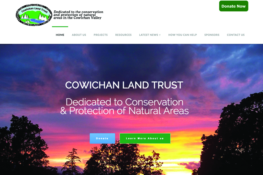 Cowichan Land Trust Website Design Services Vancouver Island