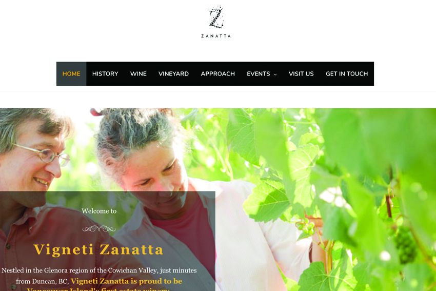 Cowichan Winery Web Design Services Vancouver Island
