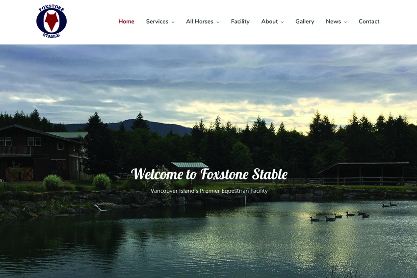 Horse Boarding Web Design Services Vancouver Island
