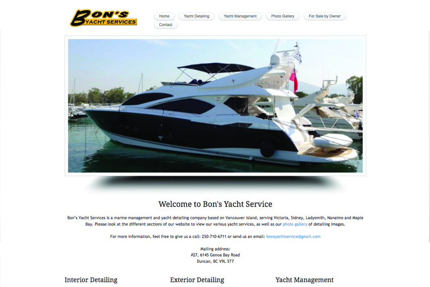 Marine Services Web Designer Vancouver Island