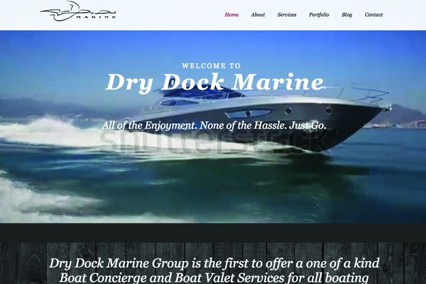 Marine Services Company Website Design Services Vancouver Island