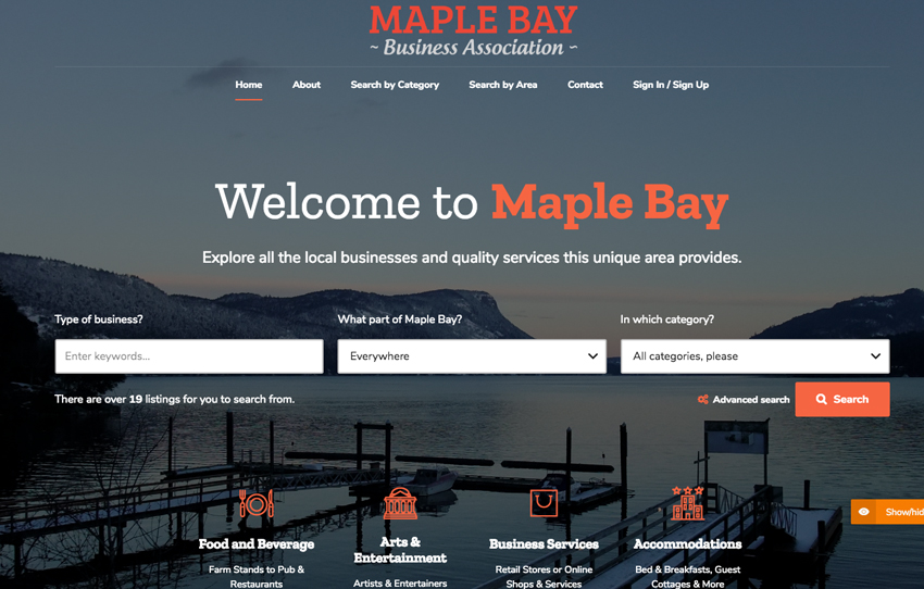 Website Builder Vancouver Island